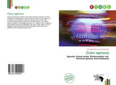 Couverture de Color agnosia