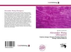 Capa do livro de Alexander Wang (Designer)