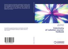 Bookcover of Colorimetry of radiation sources. Textbook