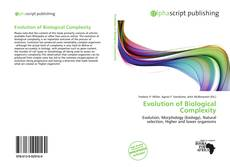 Bookcover of Evolution of Biological Complexity
