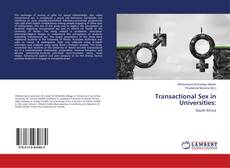 Copertina di Transactional Sex in Universities: