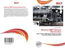 Capa do livro de Bowery (BMT Nassau Street Line)