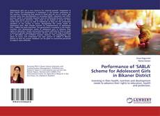 Buchcover von Performance of 'SABLA' Scheme for Adolescent Girls in Bikaner District