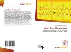 Buchcover von John Goss (Composer)
