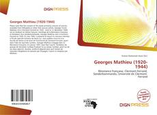Georges Mathieu (1920-1944)的封面