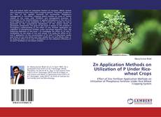 Bookcover of Zn Application Methods on Utilization of P Under Rice-wheat Crops