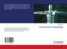 Portada del libro de A text book on physiology