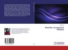Bookcover of Khortha: A Linguistic Analysis