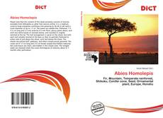 Bookcover of Abies Homolepis
