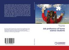Copertina di Job preference of home science students