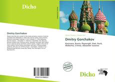 Bookcover of Dmitry Gorchakov
