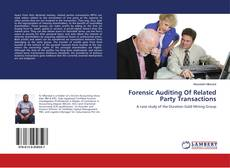 Buchcover von Forensic Auditing Of Related Party Transactions