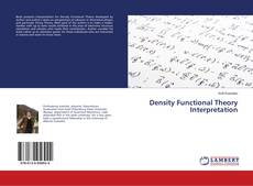 Bookcover of Density Functional Theory Interpretation