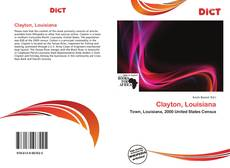 Bookcover of Clayton, Louisiana
