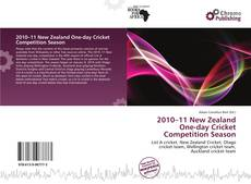 Bookcover of 2010–11 New Zealand One-day Cricket Competition Season