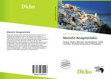 Bookcover of Manolis Anagnostakis