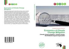Bookcover of Economics of Climate Change Mitigation