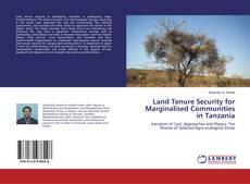 Portada del libro de Land Tenure Security for Marginalised Communities in Tanzania