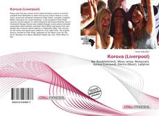 Portada del libro de Korova (Liverpool)