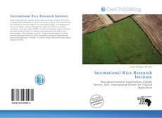 Bookcover of International Rice Research Institute