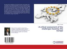 A critical assessment of the challenges faced by the Europe kitap kapağı