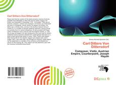 Bookcover of Carl Ditters Von Dittersdorf