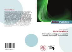 Couverture de Henri Lefebvre