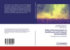 Bookcover of Role of Environment in Livelihood and Cultural Sustainability