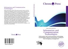 Buchcover von Information and Communication Technologies