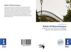 Capa do livro de Battle Of Blanchetaque