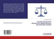 Capa do livro de İnsanlık kavramının Uluslararası Adalet Divanın Kararlarında Tecellisi