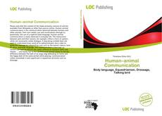 Human–animal Communication kitap kapağı