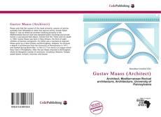 Bookcover of Gustav Maass (Architect)