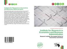 Bookcover of Institute for Research in Economics and Business Administration