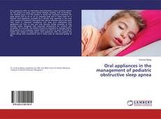 Capa do livro de Oral appliances in the management of pediatric obstructive sleep apnea