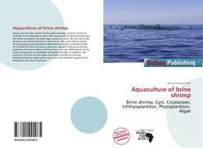 Buchcover von Aquaculture of brine shrimp