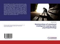 Relationships of emotional intelligence coping styles psychopathology kitap kapağı