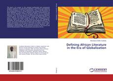 Обложка Defining African Literature in the Era of Globalization