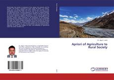 Copertina di Apriori of Agriculture to Rural Society
