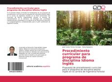 Buchcover von Procedimiento curricular para programa de disciplina Idioma Inglés
