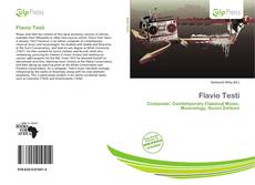 Bookcover of Flavio Testi