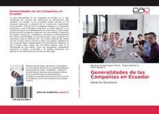 Portada del libro de Generalidades de las Compañías en Ecuador