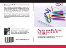 Buchcover von Poesía para Re-Pensar la Enseñanza de la Filosofía