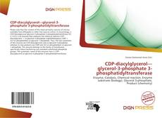 Capa do livro de CDP-diacylglycerol—glycerol-3-phosphate 3-phosphatidyltransferase