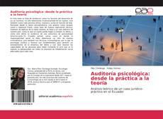 Couverture de Auditoría psicológica: desde la práctica a la teoría