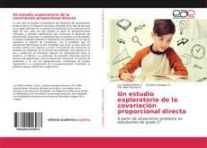 Couverture de Un estudio exploratorio de la covariación proporcional directa