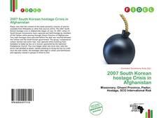 2007 South Korean hostage Crisis in Afghanistan kitap kapağı