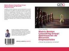 Capa do livro de Matriz Boston Consulting Group: Optimización de Recursos Empresariales