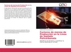 Portada del libro de Factores de merma de Producción en la Línea de Soplado Policarbonato