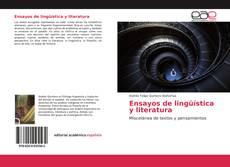 Capa do livro de Ensayos de lingüística y literatura